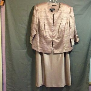 R&M RICHARDS women's dress w/jacket 16WP  rose NWT